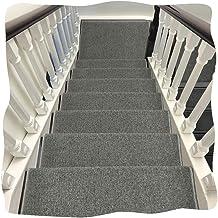 JIAJUAN Thick Stair Carpet Treads Rubber Backing Non-Slip Washable Step Mat, 7 Colors, 5 Sizes, Customize (Color : G-1 pcs...