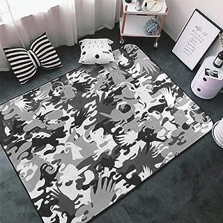 NiYoung Animal Antelope Grey Camouflage Balck Camo Kitchen Rugs, Bedroom Livingroom Sitting-Room Rug, Floor Mat Doormats Nursery Rugs, Kids Children Play Mat Bathroom Rug Mat, Throw Rugs Carpet