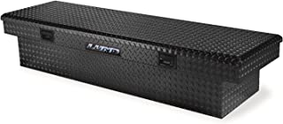 Lund 7111002 60-Inch Economy Line Aluminum Cross Bed Truck Tool Box, Diamond Plated, Black