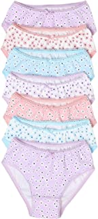 Marks & Spencer Girl's 7 Pack Cotton Floral Knickers, Lilac
