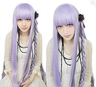 Anogol Hair Cap+Long Straight Wig Girl Braided Wig Cosdplay Wg for Women