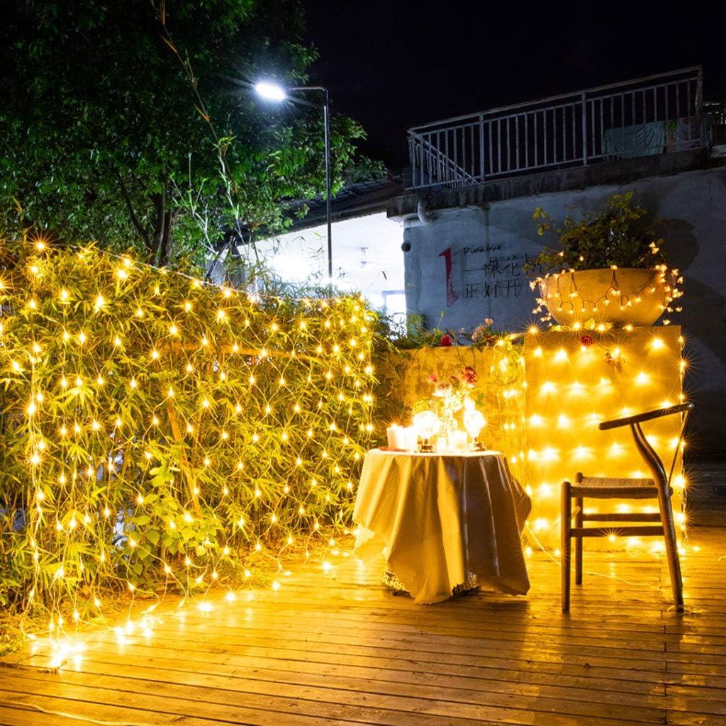 JYZT Dekorations-Lichternetz LED Im Freien, wasserdichte Vorhang- Fee Schnur-Lichter, Weihnachten/Halloween/Hochzeitsfestdekoration Lampe-Warmes Weiß 3.6x1.5M 360LED 3.6x1.5m 360led
