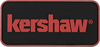 Kershaw PVC Velcro Patch (KERPATCH17); Red Kershaw Logo on Discreet Black Background, Emblem Design with 3D Look and Feel ...