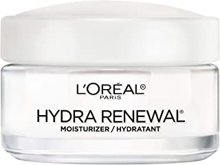 Face Moisturizer, L'Oreal Paris Skin Care Hydra-Renewal Moisturizer For Face with Pro-Vitamin B5 for Dry/Sensitive Skin, All-Day Hydration, 1.7 Oz