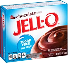 JELL-O Chocolate Instant Sugar Free Pudding & Pie Filling Mix (2.1 oz Boxes, Pack of 6)