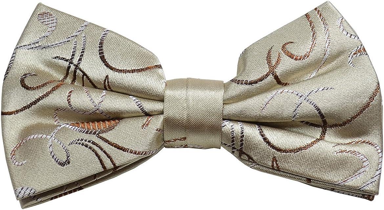 Paul Malone Silk Bow Tie Tan Paisley