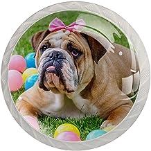 FURINKAZAN Kabinet Knop Trek Handvat Britse Bulldog Knoop Spelen Kleurrijke Ballen 4-Pack Keuken Kastdeur