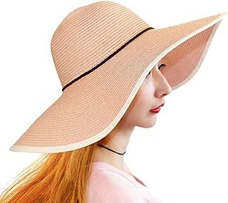 Beach Hats for Women Girls Straw Sun Hat Foldable Floppy Wide Brim Summer Caps