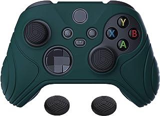 eXtremeRate PlayVital Samurai Edition racing grön halkfri kontroll grepp silikon hud, ergonomiskt mjukt gummi skyddsfodral...
