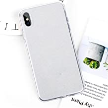 U-See Real Flowers Dried Flowers Transparent Soft TPU Cover Case for iPhone X 6 6S 7 8 Plus Clear Floral Phone Case for iPhone Xs Max,for iPhone 8 Plus,T5