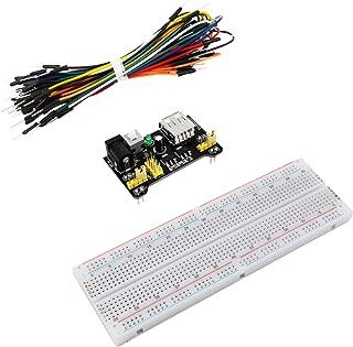DGZZI 1Set Electronics Fun Kit(1PCS Power Supply Module + 1PCS Solderless 830 tie-Points Breadboard + 65pcs Jumper Wire) for Arduino