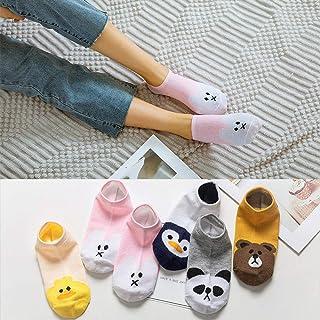 Fac 5 Pares Mujeres Calcetines Frutas Divertidas Feliz Linda del Arte de Silicona Slip Invisible del calcetín
