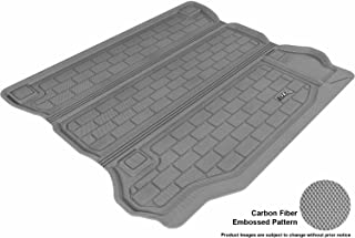 3D MAXpider Cargo Custom Fit All-Weather Floor Mat for Select Jeep Wrangler Unlimited Models - Kagu Rubber (Gray)