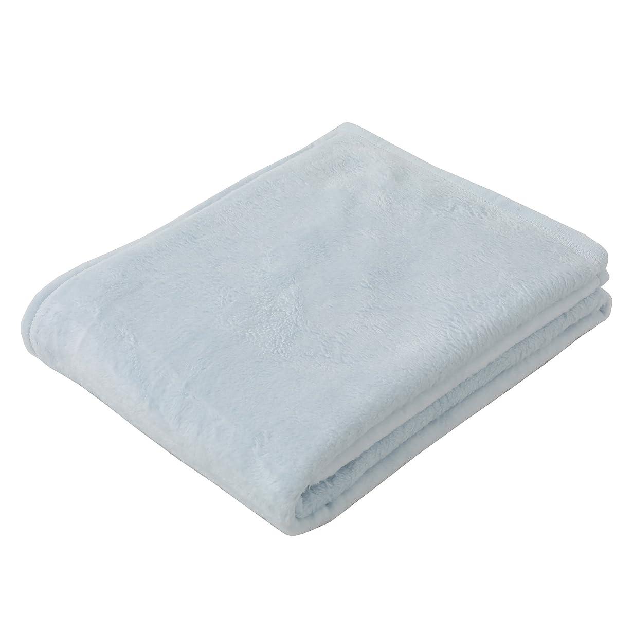 ストレンジャー資産活性化する東京西川 毛布 シングル 綿100%(毛羽部分) ふわっとやわらか ボーテ 日本製 無地 ブルー FQ07601053B