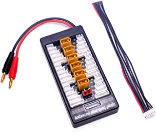 FPVKing XT60 Parallel Charging Board 2S-6S Lipo Battery Charger Plate with 4mm Bullet Banana Connector Plug for Imax B6 B6AC Charger