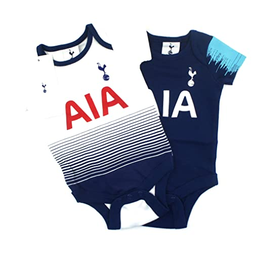 c3818e546 Official Tottenham Hotspur Football Club New Season Home   Away Kit Twin  Pack Bodysuit Spurs Baby