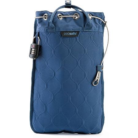 Pacsafe Travelsafe 5L - Mobiler Safe mit TSA-Zahlen Schloß, Trage-Tasche mit Anti-Diebstahl Technologie, 5 Liter Volumen, Blau/Storm