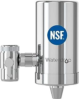 Waterdrop WD-FC-06 NSF Certifié Robinet en Acier Inoxydable, Système de Filtration d'eau à Bloc de Carbone, Filtre à eau d...
