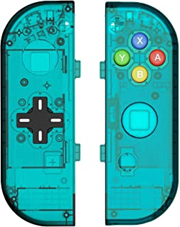 BASSTOP Translucent NS Joycon Handheld Controller Housing with D-Pad Button DIY Replacement Shell Case for Nintendo Switch...