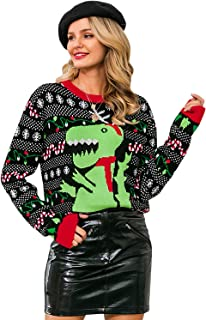BerryGo Women's Long Sleeve Knit Pullover Sweater Ugly Christmas Reindeer Sweater