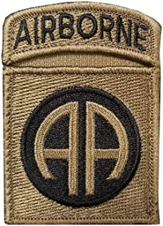 82nd Airborne Division with Airborne Tab Sewn Together - OCP Scorpion W2 Patch with Hook Fastener