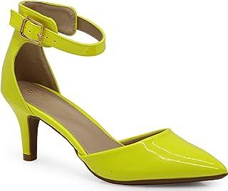 fb7112907b2 Enzo Romeo Jupiter Women s Pointy Toe High Mid Heel Sexy Ankle Strap  Sandals Ballerina Dress Pump