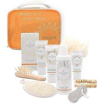 Special Spa Gift Set (11 Luxury Pieces) Charcoal Masque, Eye Cream, Grapefruit Hand & Body Lotion, Grapefruit Shower Gel, Bath Salt, Loofah, Sisal Sponge, & More -Made in USA
