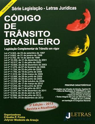 Código De Trânsito Brasileiro. Legislação Complementar De Trânsito Em Vigor