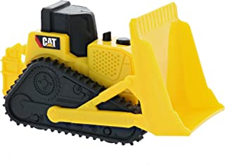Road Rippers CAT Mini Machine Dual Axle Bulldozer Free-Wheeling Compact Construction Vehicle with Adjustable Parts (Single Pack)