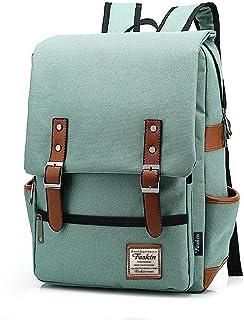 Mochila de Portátil Backpack Delgado para el Laptop del Negocio, Trabajo, Diario, Ocio - Verde