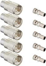Ancable Silver UHF/PL-259 Male Solder Coax Connector for 50ohm Low Loss RG-8x RG-213 RG-214 9913 RF Cable Pack of 5