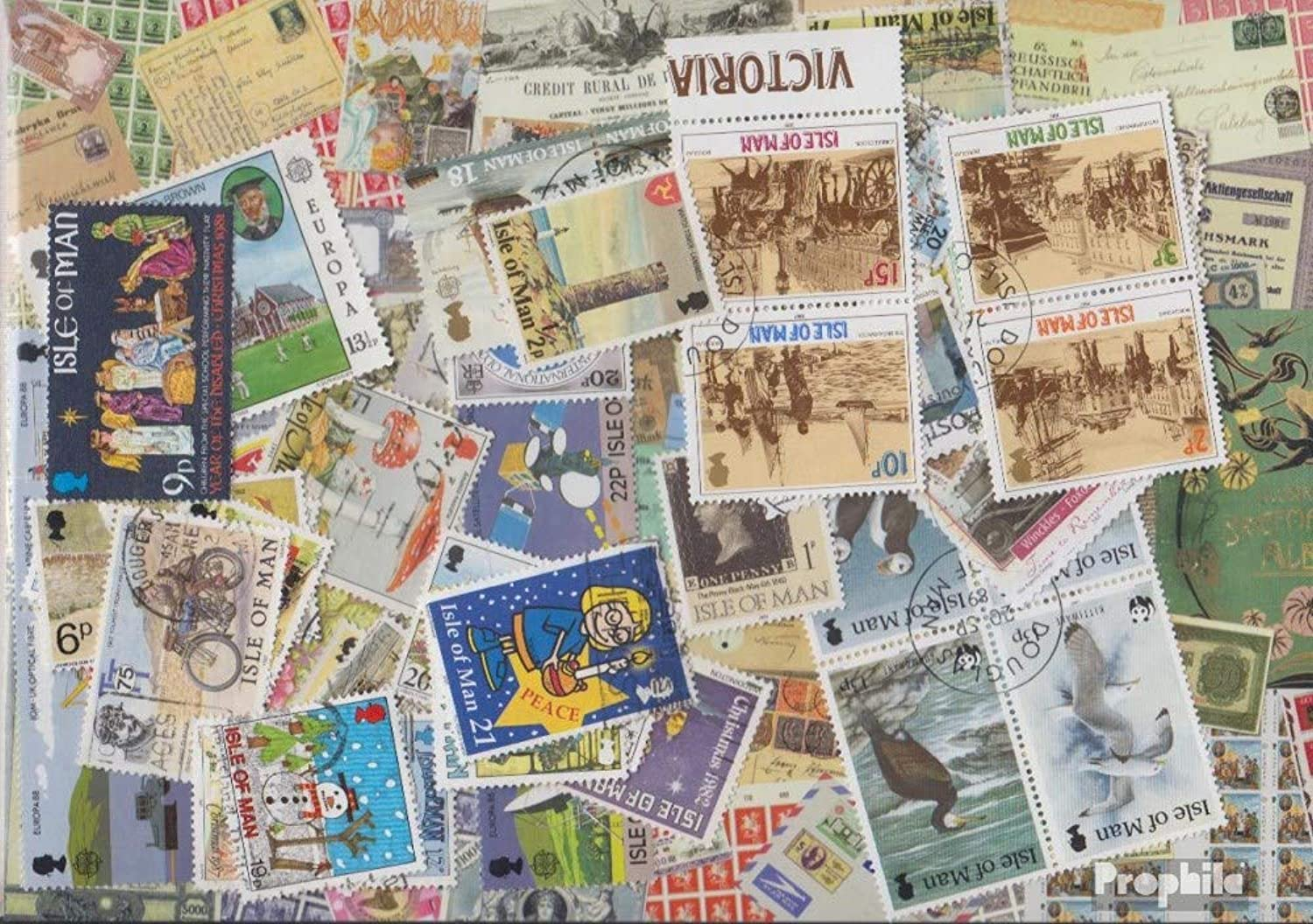 United kingdom - Island Man 500 different stamps (Stamps for collectors)