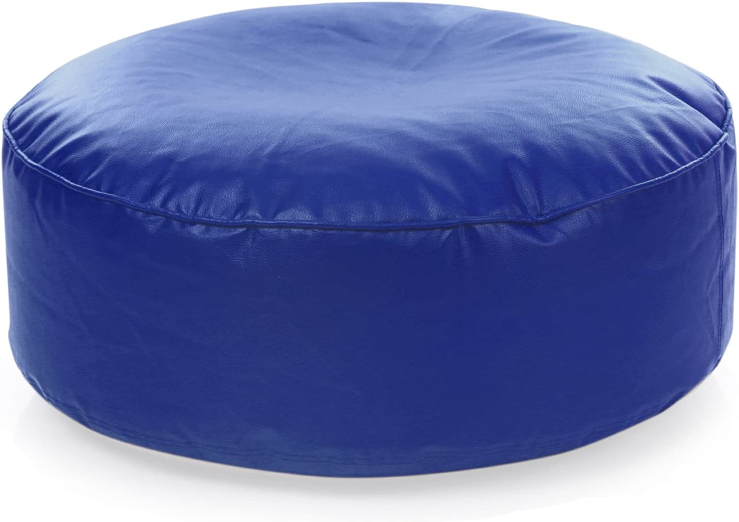 Style Homez Classic Round Floor Cushion L size Royal bluee color Cover Only