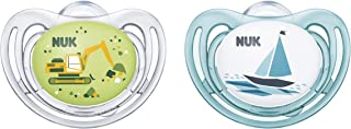 NUK Airflow Orthodontic Pacifiers, Boy, 6-18 Months, 2-Pack