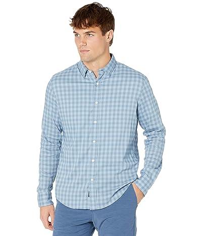 Faherty Movement Shirt (Flint Blue Gingham) Men