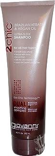 Giovanni 2chic Ultra Sleek Shampoo with Moroccan Argan Oil & Keratin, Smoothing Anti Frizz Formula, No Sulfates, No Parabe...