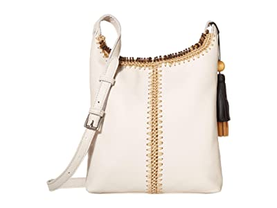 The Sak Huntley Leather Crossbody (Stone Crochet) Handbags