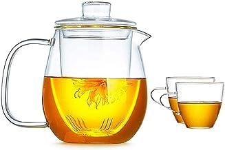 RTYUI Czajnik czajniczek filiżanka dzbanek szklany dzbanek pokrywka dzbanek dzbanek do lodu łatwy do czyszczenia łatwy do ...