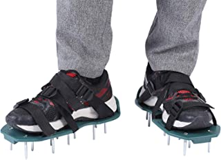 Lawn Aerator Sandals, 1 Pair of Lawn Aerator Shoes Heavy Duty Grass Spiked Shoes with Plastic Buckle awn Spike Sandals Gar...