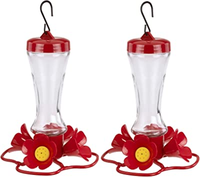 More Birds Impatiens Hummingbird Feeders, 2 Pack 8 Ounces Each