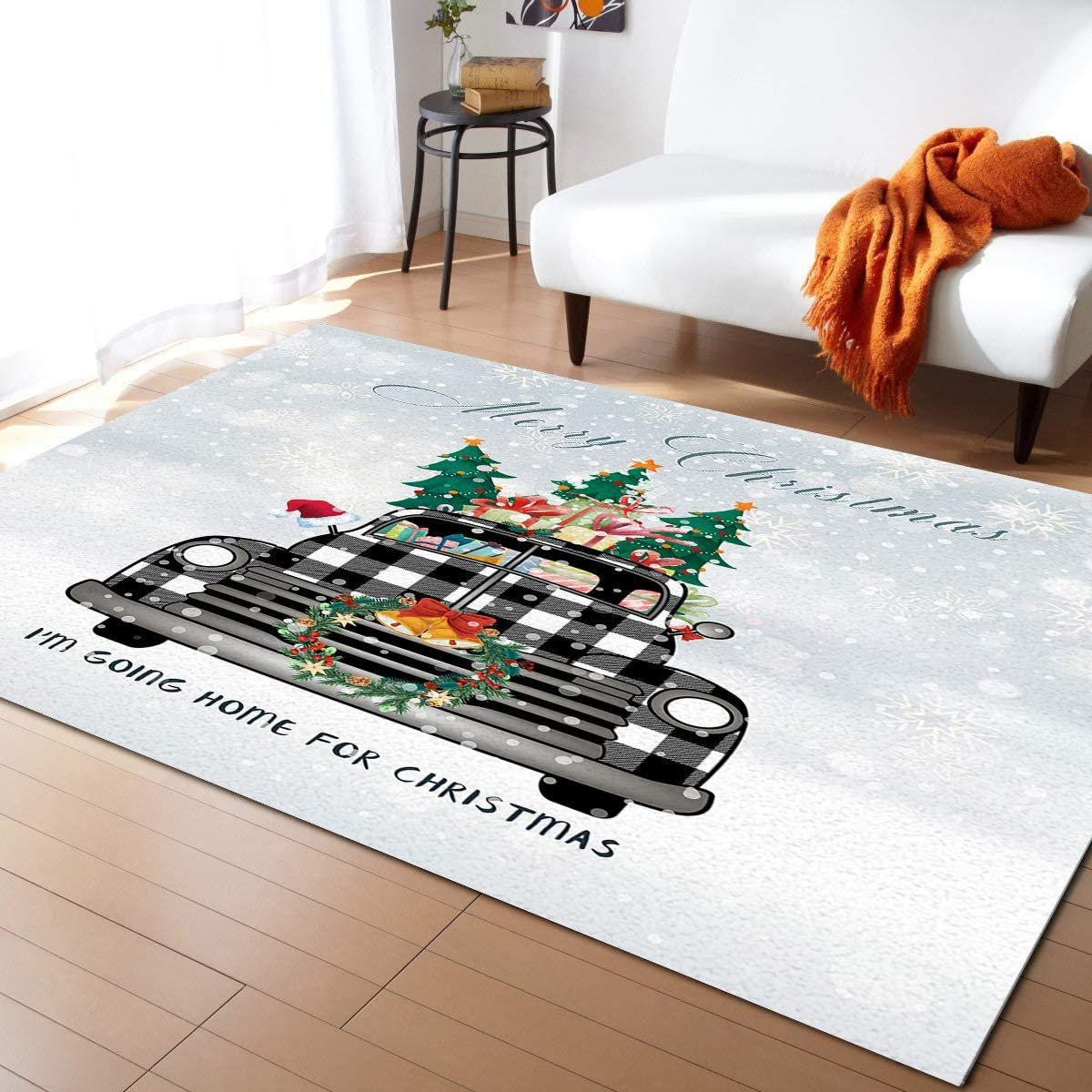 We OFFer at cheap prices Indoor Area Rug Sale Doormat- I'm Goming for Christmas Home Plaid Tru