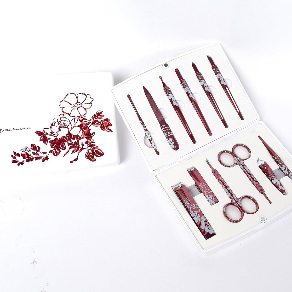 きれいにアトムスクリューBELL Manicure Sets BM-500A ポータブル爪の管理セット 爪切りセット 高品質のネイルケアセット高級感のある東洋画のデザイン Portable Nail Clippers Nail Care Set