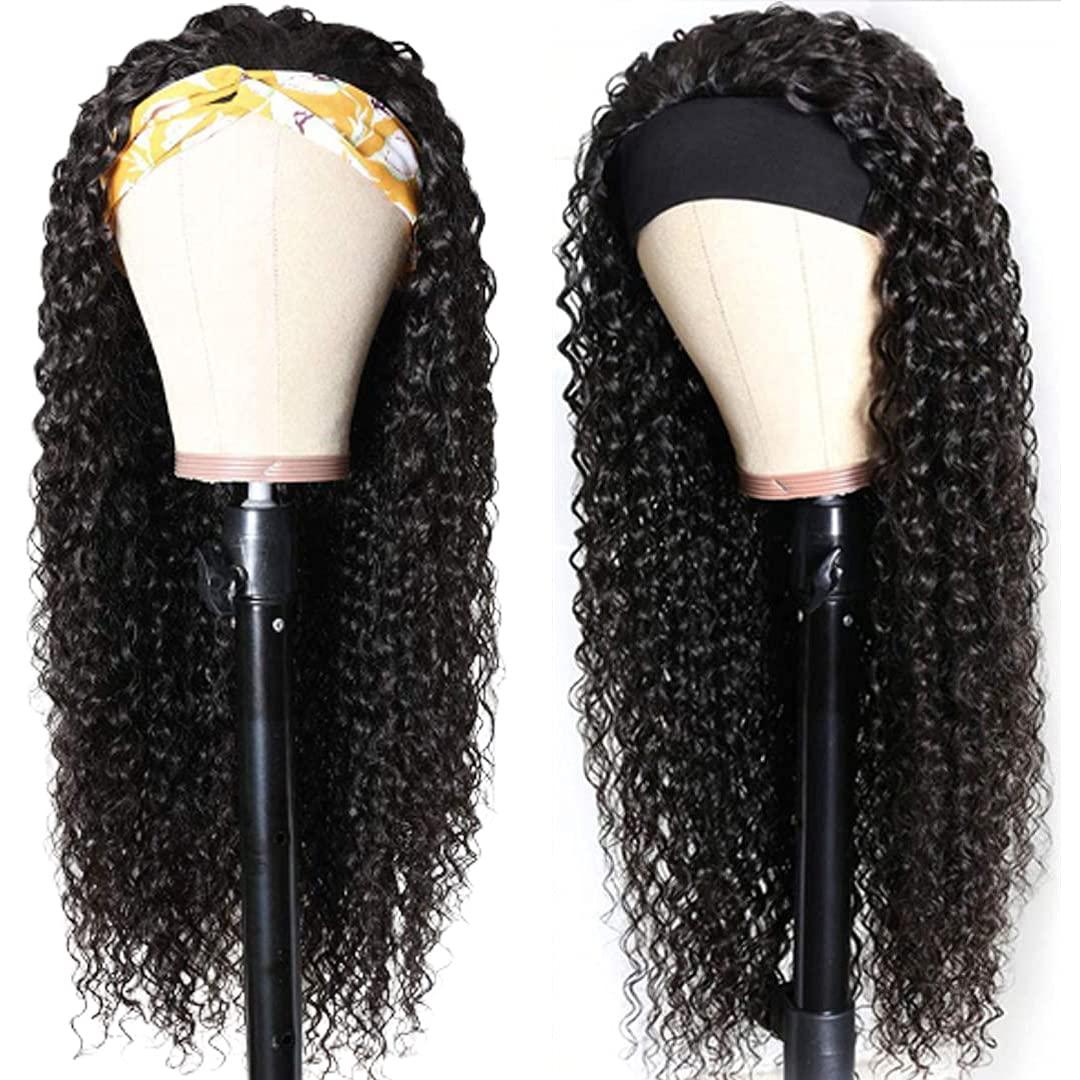 Headband Sales results No. 1 Wig Curly Human Hair Wave Kansas City Mall 14 Inch Deep Glueless