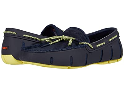 SWIMS Knit Lace Loafer (Navy/Limelight) Men