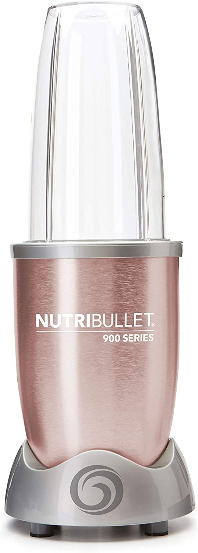 NutriBullet 900 W Centrífugas, Acero Inoxidable, Rosa Dorado