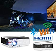 """$445 » LCD Smart WiFi Bluetooth 5000 Lumen Home Theater Projector HD WXGA Support 1080P Android TV Outdoor Movies Projectors HDMI VGA USB Max 200"""""""