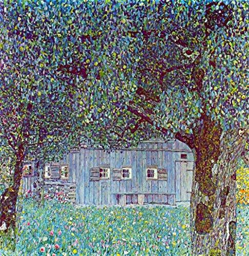 La Musée Outlet – Farm House in Upper Austria by Klimt – Toile (61 x 45,7 cm)