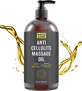 Premium Anti Cellulite Treatment Massage Oil - All Natural Ingredients - Penetrates Skin 6X Deeper Than Cellulite Cream - Targets Unwanted Fat Tissues & Improves Skin Firmness
