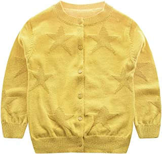 JANGANNSA Baby Boys Sweater Kids Cotton Knitted Cardigan Round Neck Button up Sweaters 1-5 Years Old