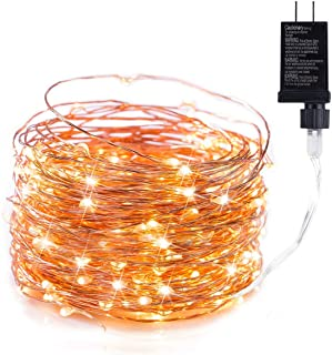 120 LED Fairy Lights 40FT Starry String Lights Waterproof Warm White on Copper Wire - UL Adaptor Included, Firefly Lights for Indoor Outdoor Christmas Decorative Patio Wedding Garden